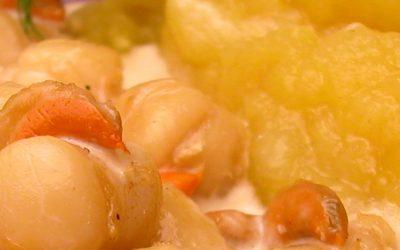 Pommes Tentation® au noix de Saint Jacques et curry
